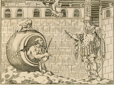 Diogenes and Alexander from Unpublished Monuments of Antiquity--Giclee Print