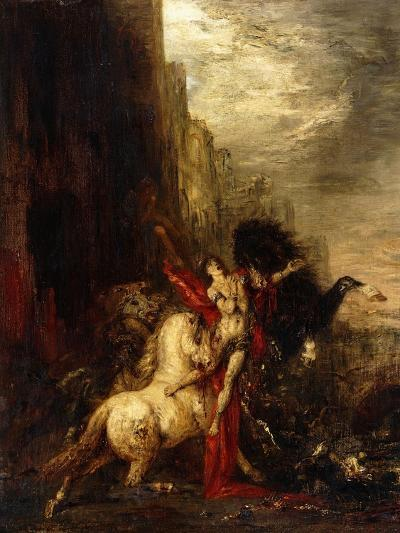 Diomedes Devoured by His Horses, C.1865-1870-Gustave Moreau-Giclee Print