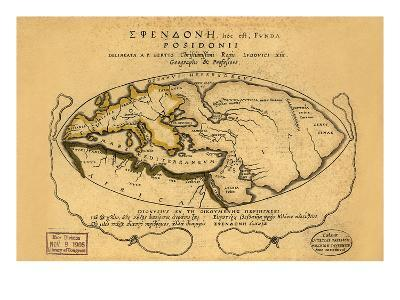 Dionysius in the World Traveled by the Greeks- Bertius-Art Print