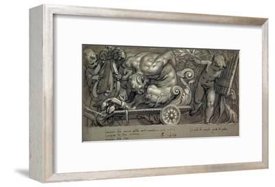 Dionysus and Putti-Paolo Farinati-Framed Art Print