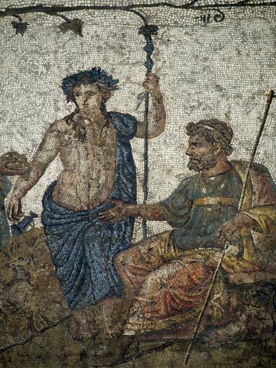 Dionysus Gives Vineyard to King of Attica Ikarios--Giclee Print