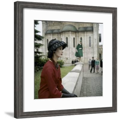 Dior Models in Soviet Union for Officially Sanctioned Fashion Show--Framed Photographic Print