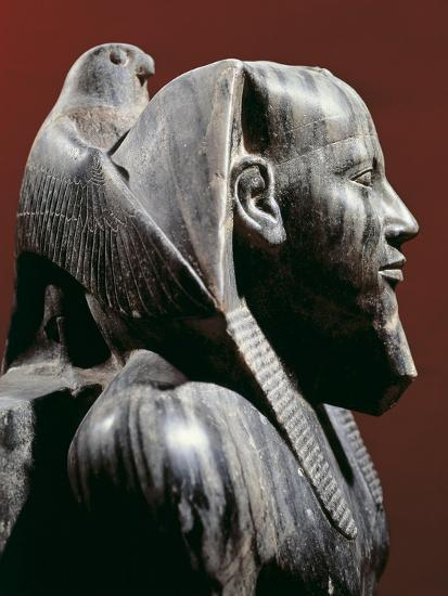 Diorite Statue of Pharaoh Khafre, from Giza, Detail--Giclee Print