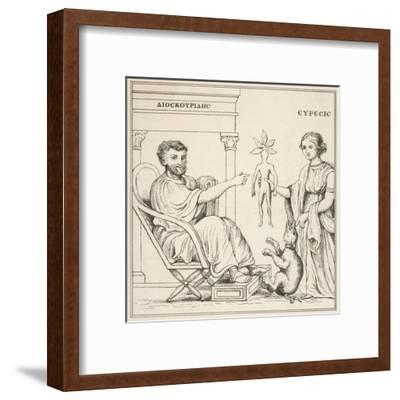 Dioscorides Receives a Mandrake Root from Euresis--Framed Giclee Print