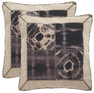 Dip-Dye Quartre Patch Pillow Pair - Sumac--Home Accessories
