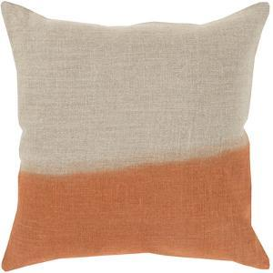 Dip Dyed Poly Fill Pillow - Burnt Orange