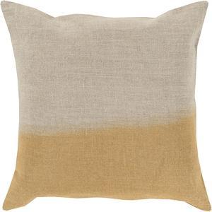 Dip Dyed Poly Fill Pillow - Gold