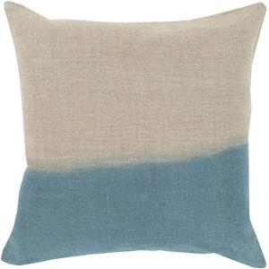Dip Dyed Poly Fill Pillow - Light Blue