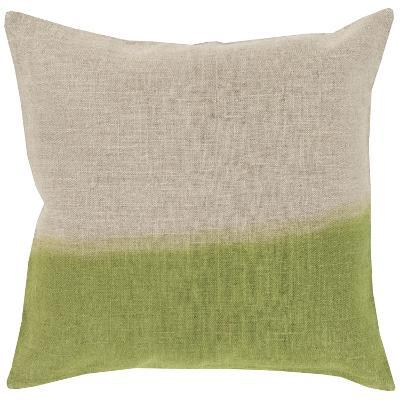 Dip Dyed Poly Fill Pillow - Lime--Home Accessories