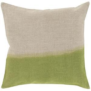 Dip Dyed Poly Fill Pillow - Lime