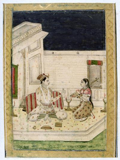 Dipaka (Ligh) Raga, Ragamala Album, School of Rajasthan, 19th Century--Giclee Print