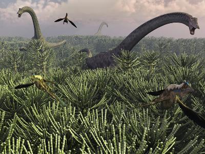 Diplodocus Dinosaurs of the Sauropod Family-Stocktrek Images-Photographic Print