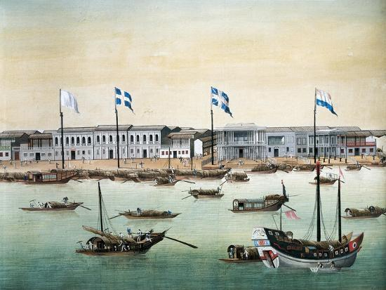 Diplomatic Headquarters in Canton, 1767--Giclee Print