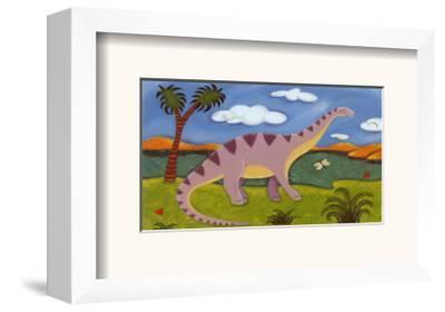 Dippy the Diplodocus-Sophie Harding-Framed Art Print
