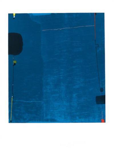 Diptychon Blau, c.1963-Max Ackermann-Serigraph