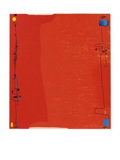Diptychon Rot, c.1963-Max Ackermann-Serigraph
