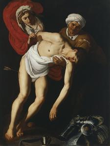 The Saints Sebastian, Irene and Her Maid by Dirck Baburen