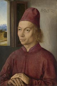 Portrait of Young Man, Perhaps Jan Van Winckele, 1462 by Dirck Bouts