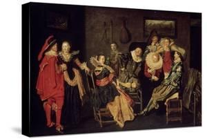 The Merry Company, 17th Century by Dirck Hals