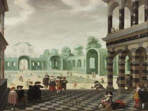 A Dutch Garden Scene, 1636 by Dirck Van Delen
