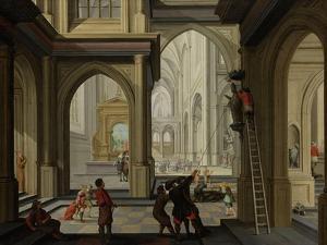 Iconoclasm in a Church, 1630 by Dirck Van Delen