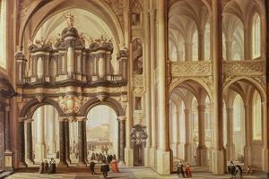 Interior of a Church by Dirck Van Delen
