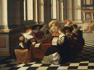 Musical Entertainment, Detail, 1632 by Dirck Van Delen