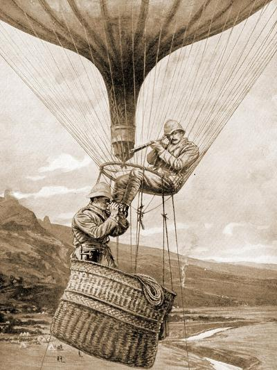 Directing the Advance on Potgieter's Drift from the Balloon, Colenso, Natal, South Africa--Giclee Print