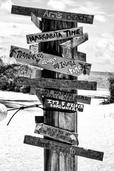 Directional Fun Signs on the Beach - Florida-Philippe Hugonnard-Photographic Print