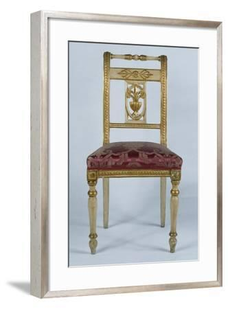 Directoire Style Lacquered and Gilded Neapolitan Chair, Italy, Late 18th-Early 19th Century--Framed Giclee Print