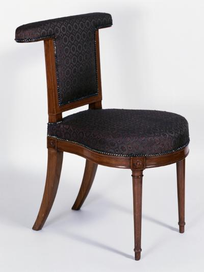 Directoire Style Solid Cuban Mahogany Voyeuse Chair, France, Late 18th-Early 19th Century--Giclee Print