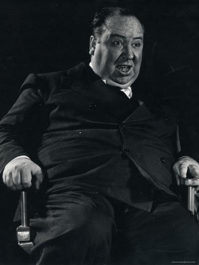 Director Alfred Hitchcock on Set of Motion Picture Shadow of a Doubt-Gjon Mili-Premium Photographic Print