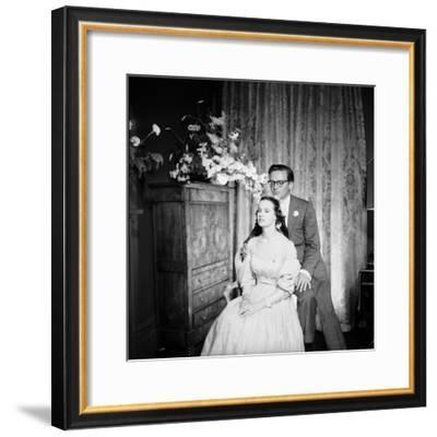 Director Sidney Lumet and Gloria Vanderblit at their Wedding Reception, New York, August 1956-Gordon Parks-Framed Premium Photographic Print