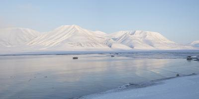 Dirigenten Mountain and Sea Ice-Stephen Studd-Photographic Print