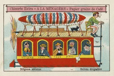 Dirigible Balloons: Aerial Stagecoach--Giclee Print