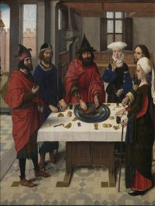The Last Supper Altarpiece: Passover Seder (Left Wing), 1464-1468 by Dirk Bouts