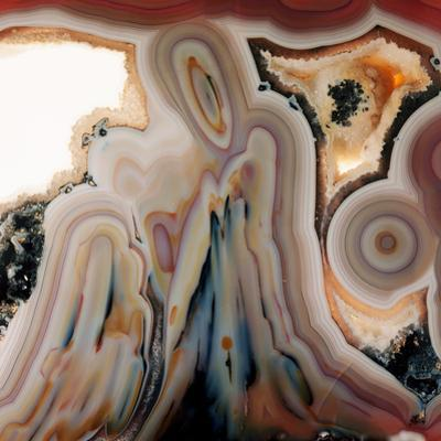 Agate Slice by Dirk Wiersma