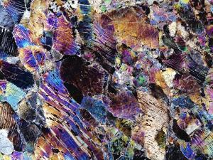 Pyroxenite Rock, Light Micrograph by Dirk Wiersma