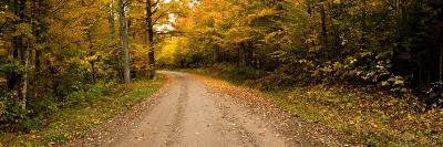 Dirt Road Passing Through a Forest, New Hampshire, USA--Photographic Print