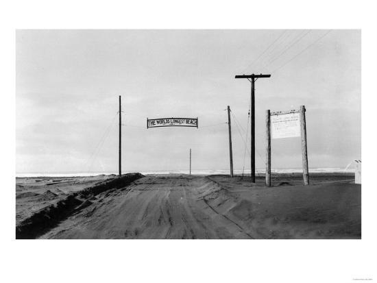 Dirt Road to Ocean Beach, Worlds Longest Beach - Long Beach, WA-Lantern Press-Art Print