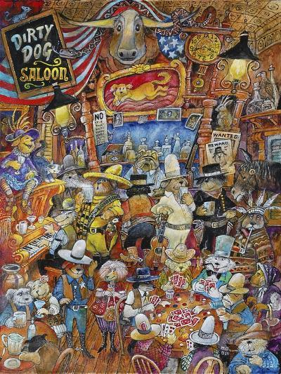 Dirty Dog Saloon-Bill Bell-Giclee Print