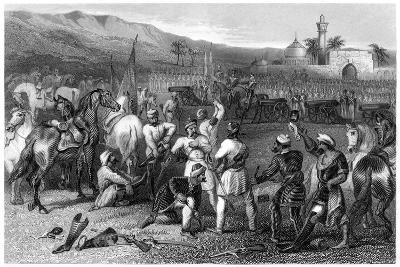 Disarming the 11th Irregular Cavalry at Berhampore, 1857--Giclee Print