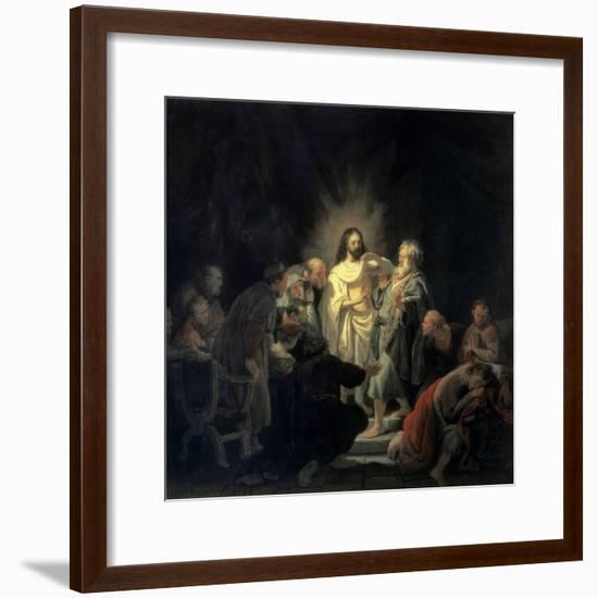 Disbelief of Apostle Thomas-Rembrandt van Rijn-Framed Giclee Print