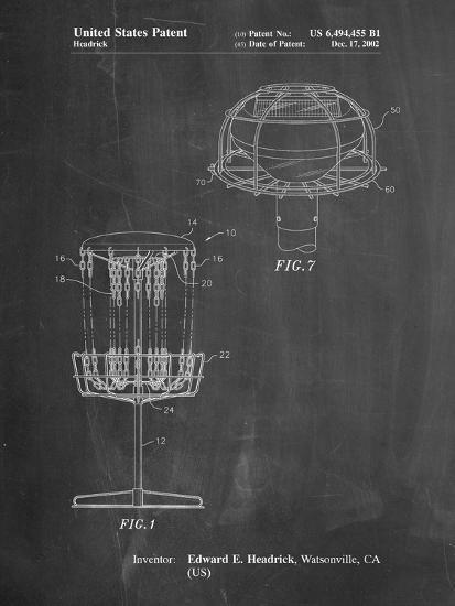 Disc Golf Basket Patent-Cole Borders-Art Print