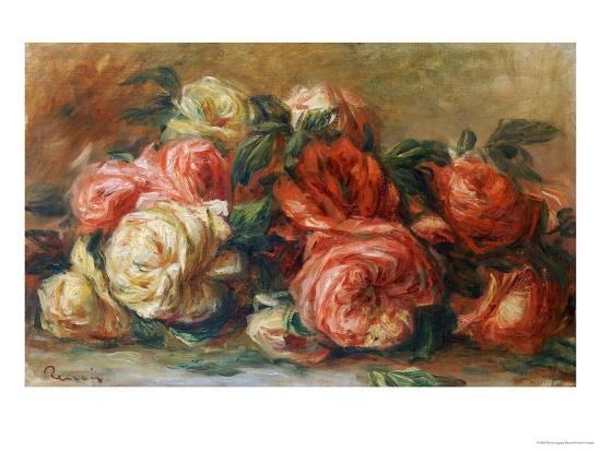Discarded Roses-Pierre-Auguste Renoir-Premium Giclee Print
