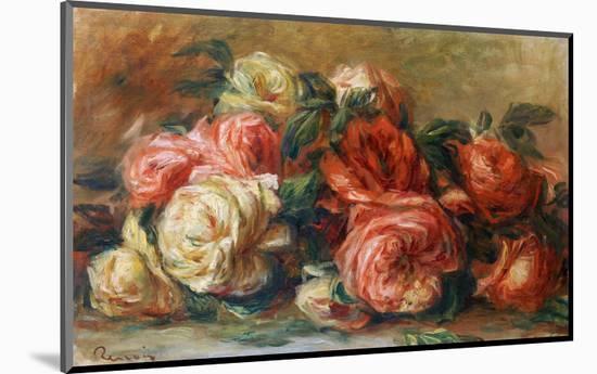 Discarded Roses-Pierre-Auguste Renoir-Mounted Premium Giclee Print