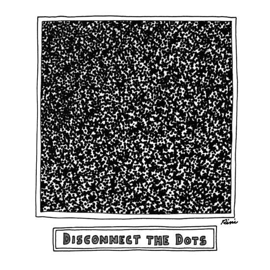 Disconnect the Dots - New Yorker Cartoon-J.P. Rini-Premium Giclee Print