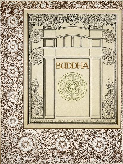 Discourses of the Buddha, Siddhartha Gautama, Frontispiece from German Behemen Publishing, Berlin--Giclee Print