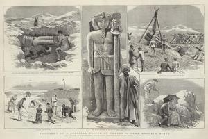 Discovery of a Colossal Statue of Ramses II Near Aboukir, Egypt