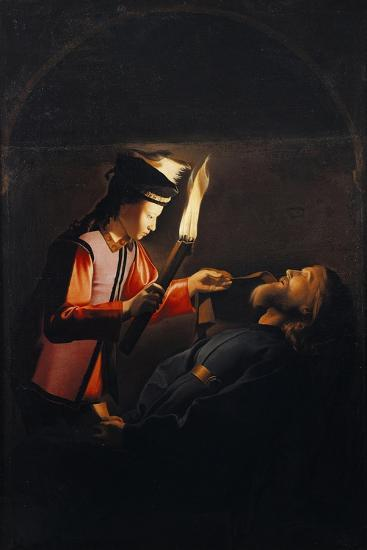 Discovery of Body of St Alexis or Death of St Alexis-Georges de La Tour-Giclee Print